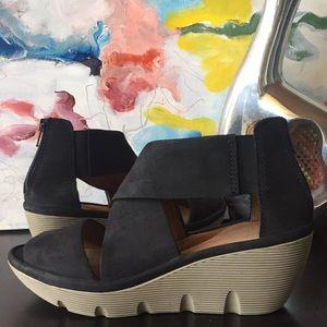 Clarks Clarene wedge sandals